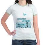 Kindness Matters Aqua Jr. Ringer T-Shirt