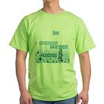 Kindness Matters Aqua Green T-Shirt