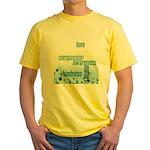 Kindness Matters Aqua Yellow T-Shirt