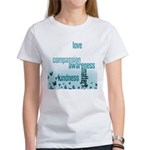 Kindness Matters Aqua Women's T-Shirt