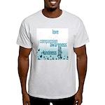 Kindness Matters Aqua Light T-Shirt