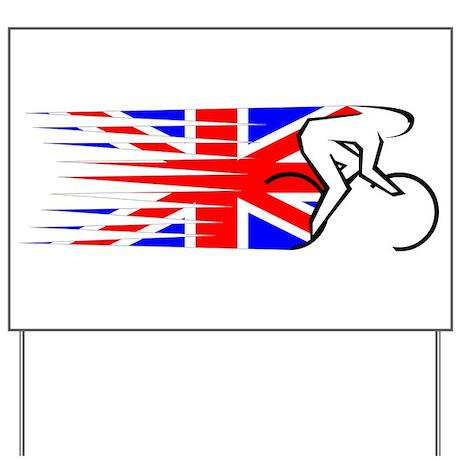 Track Cycling - UK Yard Sign