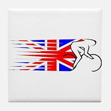 Track Cycling - UK Tile Coaster