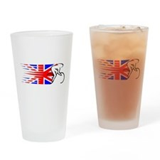 Track Cycling - UK Drinking Glass