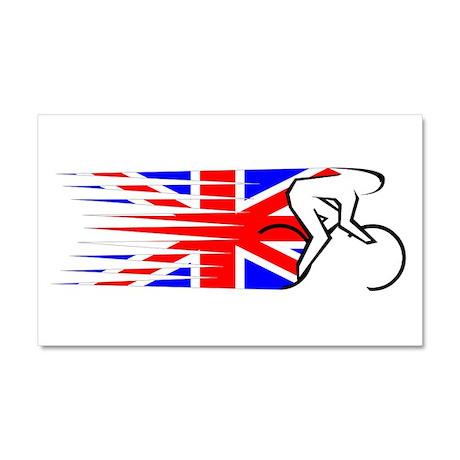 Track Cycling - UK Car Magnet 20 x 12