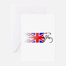 Track Cycling - UK Greeting Cards (Pk of 10)