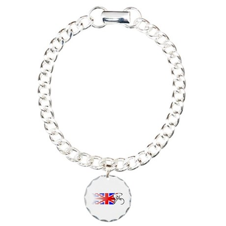 Track Cycling - UK Charm Bracelet, One Charm