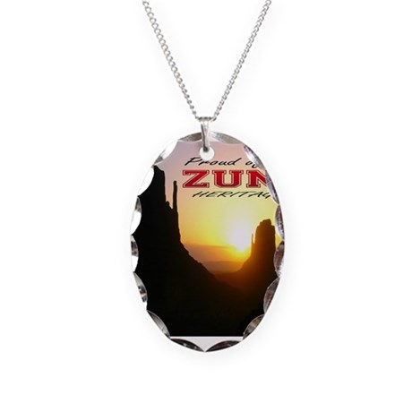 Zuni Heritage Necklace Oval Charm