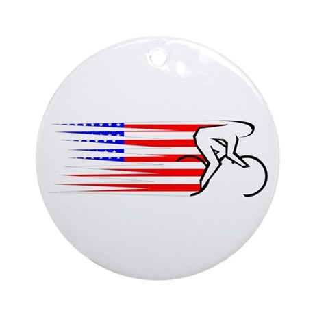Track Cycling - USA Ornament (Round)