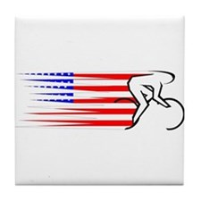 Track Cycling - USA Tile Coaster