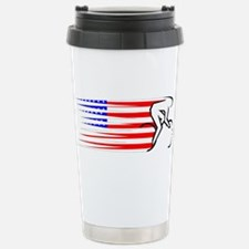 Track Cycling - USA Travel Mug