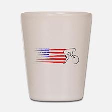 Track Cycling - USA Shot Glass