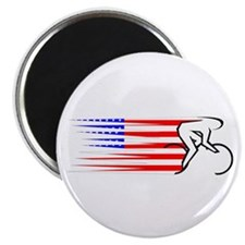 "Track Cycling - USA 2.25"" Magnet (10 pack)"