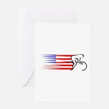 Track Cycling - USA Greeting Cards (Pk of 10)