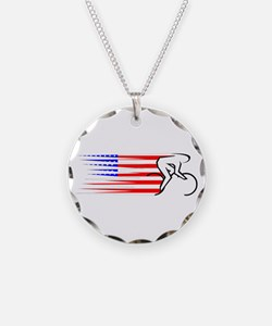Track Cycling - USA Necklace