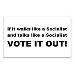 Socailist Vote It Out Decal