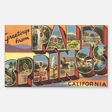 Greetings from Palm Springs Sticker (Rectangle)
