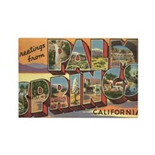 Greetings from Palm Springs Rectangle Magnet (10 p