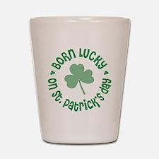St. Patrick's Day Birthday Shot Glass