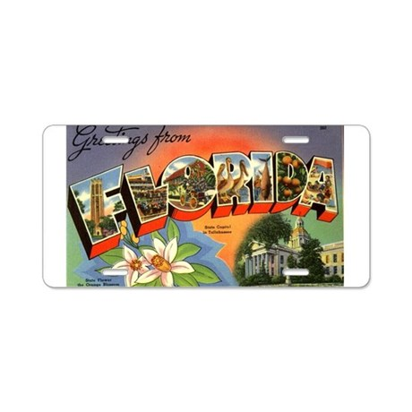 Greetings from Florida Aluminum License Plate