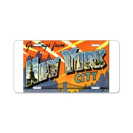 Greetings from NYC Aluminum License Plate