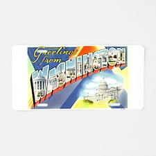 Cute Washington dc Aluminum License Plate
