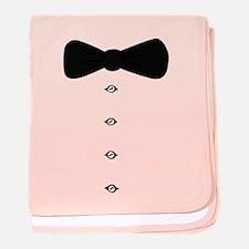 'Bow Tie Tux' baby blanket