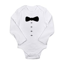 'Bow Tie Tux' Long Sleeve Infant Bodysuit