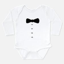 'Bow Tie Tux' Long Sleeve Infant Bodysuit