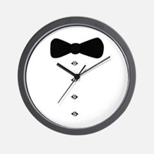'Bow Tie Tux' Wall Clock