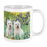 CUSTOM-Irises - 2 Westies Mug