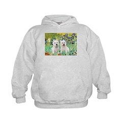 CUSTOM-Irises - 2 Westies Kids Hoodie