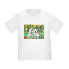 CUSTOM-Irises - 2 Westies T