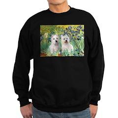 CUSTOM-Irises - 2 Westies Sweatshirt