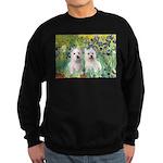 CUSTOM-Irises - 2 Westies Sweatshirt (dark)