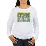 CUSTOM-Irises - 2 Westies Women's Long Sleeve T-Sh