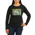 CUSTOM-Irises - 2 Westies Women's Long Sleeve Dark