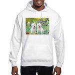 CUSTOM-Irises - 2 Westies Hooded Sweatshirt