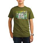 CUSTOM-Irises - 2 Westies Organic Men's T-Shirt (d