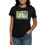 CUSTOM-Irises - 2 Westies Women's Dark T-Shirt