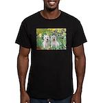 CUSTOM-Irises - 2 Westies Men's Fitted T-Shirt (da
