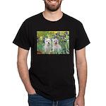 CUSTOM-Irises - 2 Westies Dark T-Shirt