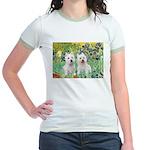 CUSTOM-Irises - 2 Westies Jr. Ringer T-Shirt