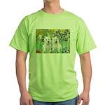 CUSTOM-Irises - 2 Westies Green T-Shirt