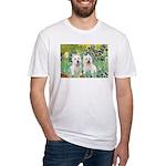 CUSTOM-Irises - 2 Westies Fitted T-Shirt
