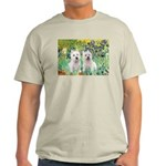 CUSTOM-Irises - 2 Westies Light T-Shirt