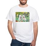 CUSTOM-Irises - 2 Westies White T-Shirt