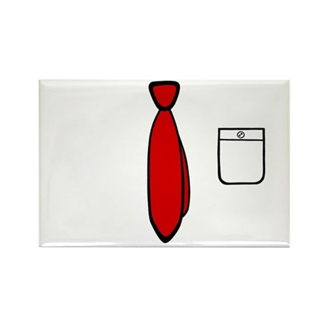 'Work Tie' Rectangle Magnet
