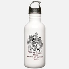 What Zombies Want Water Bottle