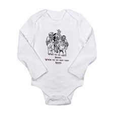 What Zombies Want Long Sleeve Infant Bodysuit